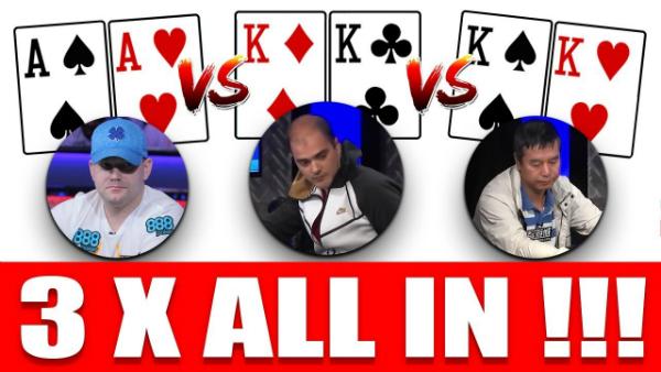 Aces vs. Kings vs. Kings on the 2018 WSOP Final Table Bubble
