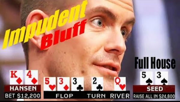 Fatal failure of Incredible Gus Hansen on Big Bluff