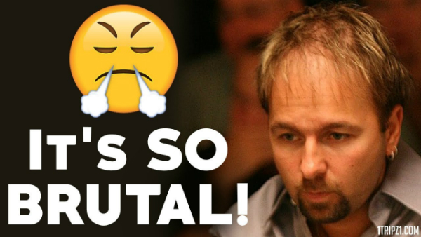 Negreanu Feels the Pain of Heads Up Poker!