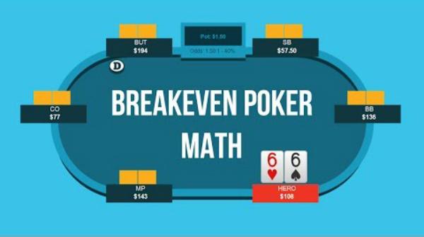 Breakeven Poker Math