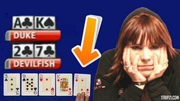 The Sweetest feeling in poker – win with 7-2!