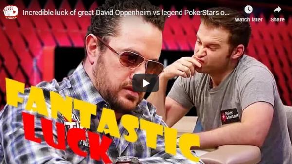 Incredible Luck of Great David Oppenheim vs Legend PokerStars Eugene Katchalov