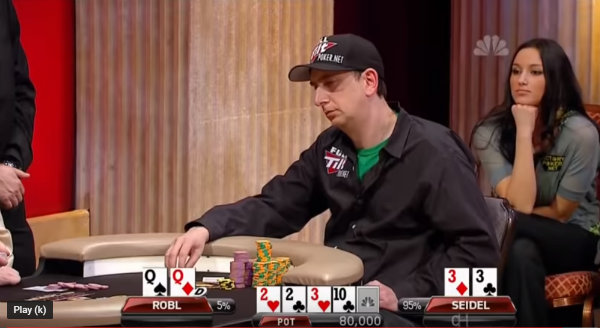 Crazy Full House of Erik Seidel on Flop vs Two Pairs in Battle for Final