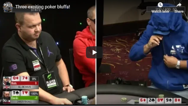 Three Exciting Poker Bluffs!