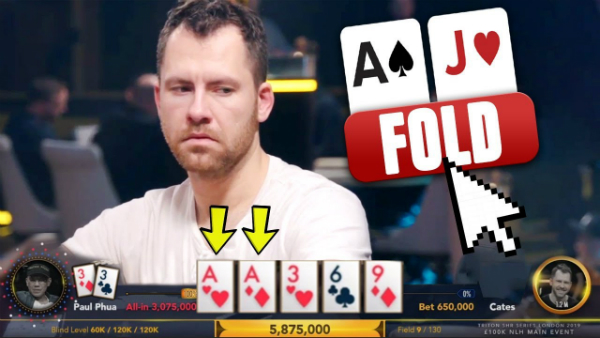 Is He Really Going To Fold Three Aces?