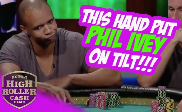 Phil Ivey on Tilt! Rare Poker Hand!!