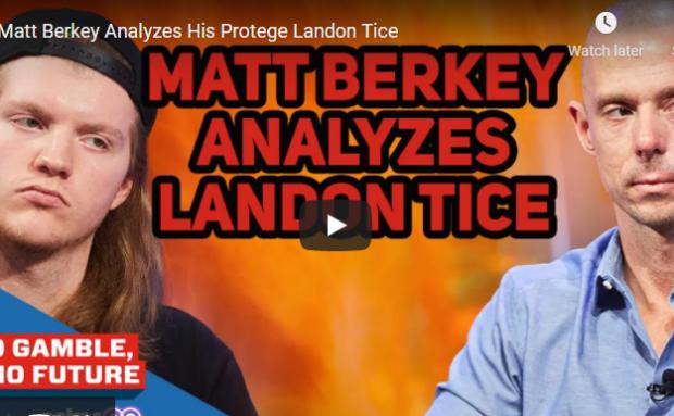 Matt Berkey Analyzes His Protege Landon Tice