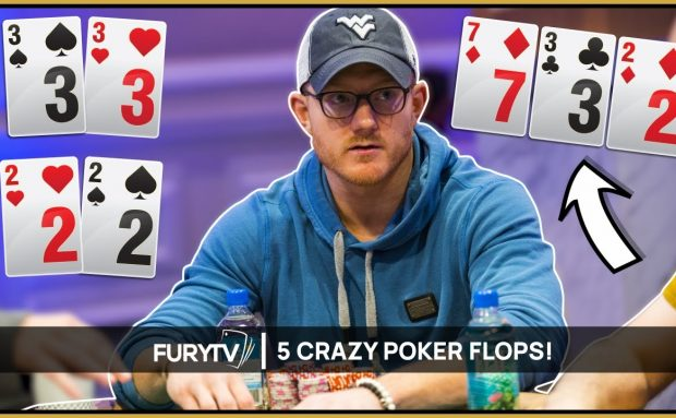 5 of the Sickest Poker Flops Ever Seen